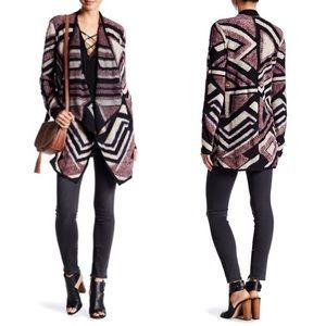 Lucky Brand Sweaters - Lucky brand intarsia knit cardigan sz M draped